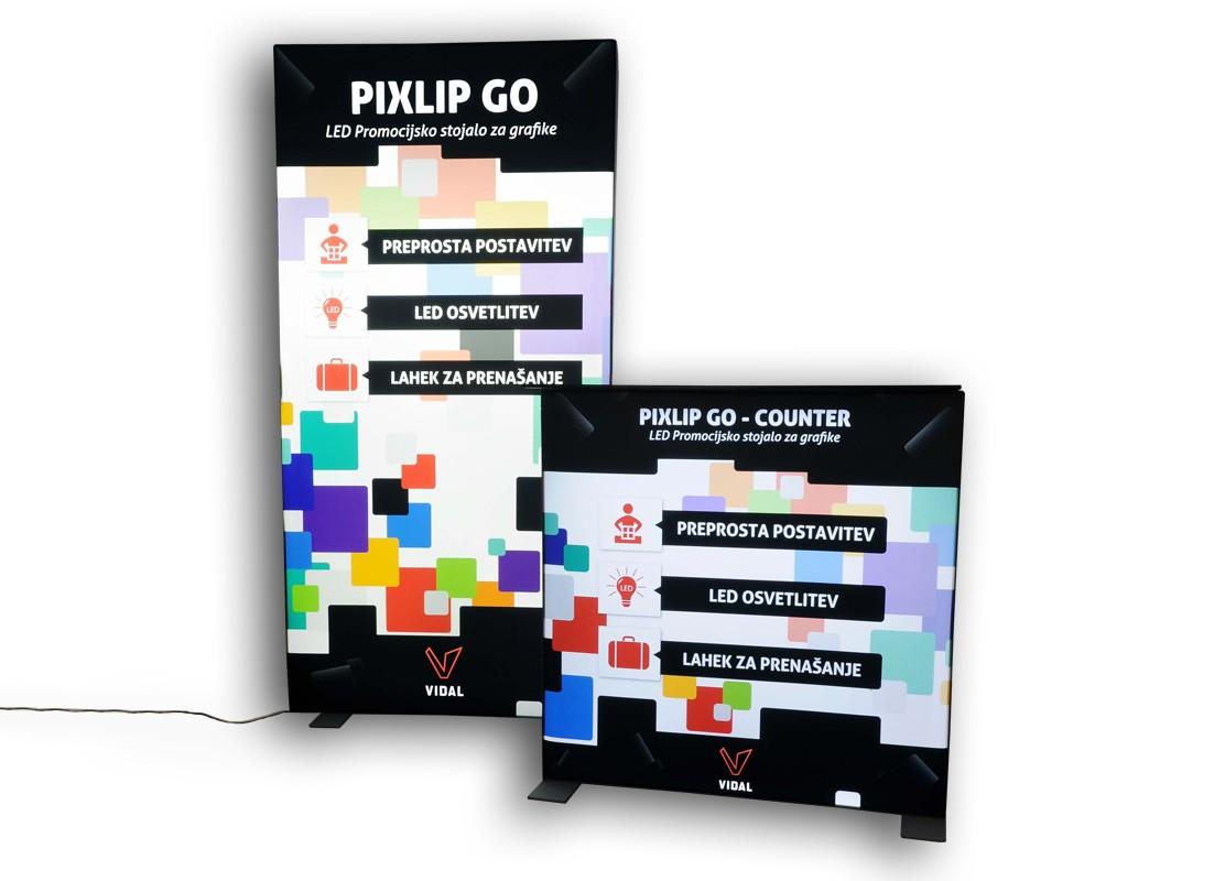 PixLip go LED promocijsko stojalo