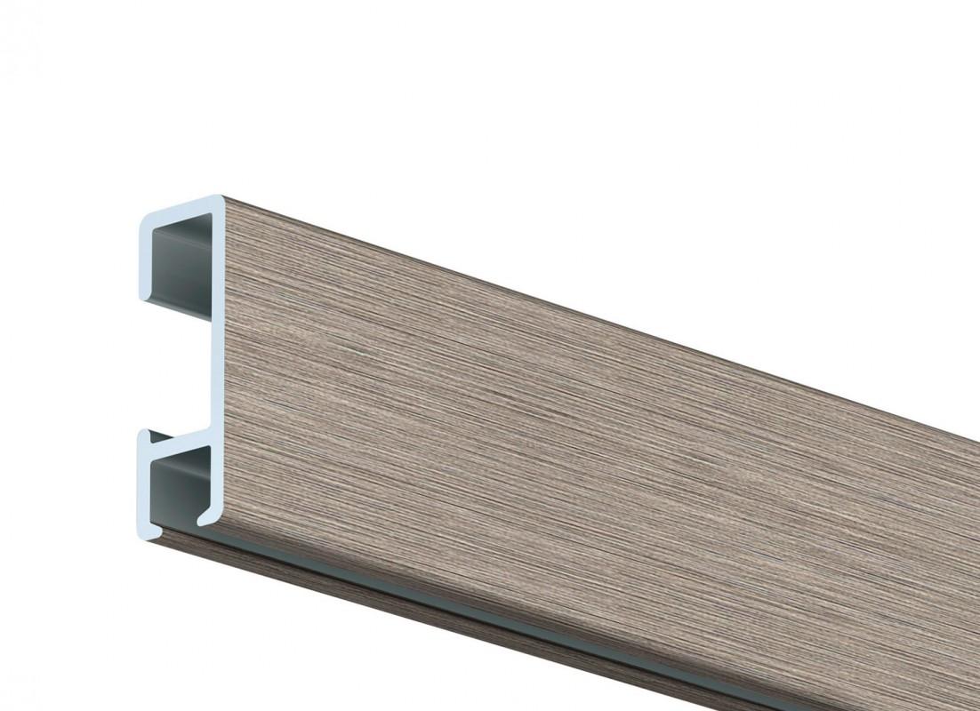 Click rail stenska alu srebrna - brušena letev