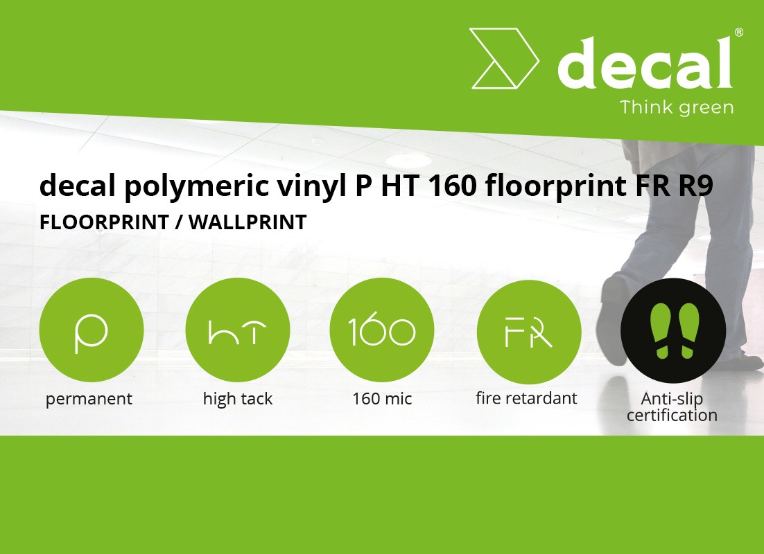 Decal polymeric vinyl P HT 160 floorprint FR R9
