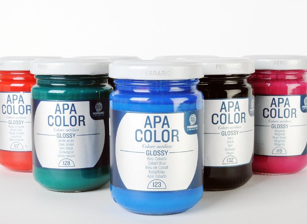 Ferrario Apa Color akrilna barva Glossy (sijaj) 150ml - 8 barvih odtenkov