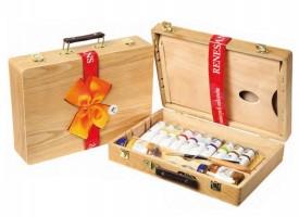 Renesans komplet Maxi akrilov - lesen kovček z pripomočki