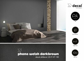 decal alldecor 2D P HT 190 Phono Welsh Darkbrown