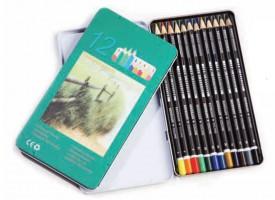 Pastelni barvni svinčnik (12 barv v kompletu)