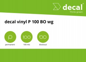 decal vinyl P 100 BO wg