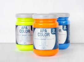Ferrario Apa Color akrilna barva Bright (fluorescentni odtenki) 150 ml - 3 barvi odtenki