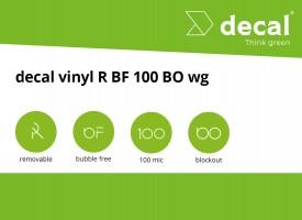decal vinyl R BF 100 BO wg