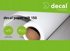 decal paper WB 150 - Whiteback