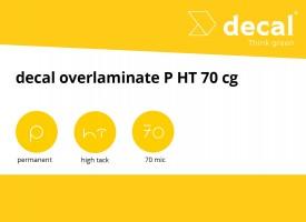 decal overlaminate P HT 70 cg